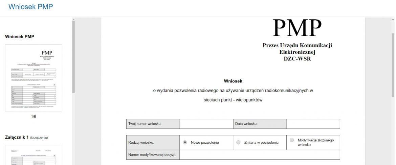 Generatory Wniosków PMP